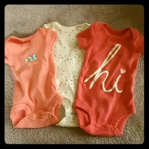 Set of 3 Preemie Onesies (Girls)